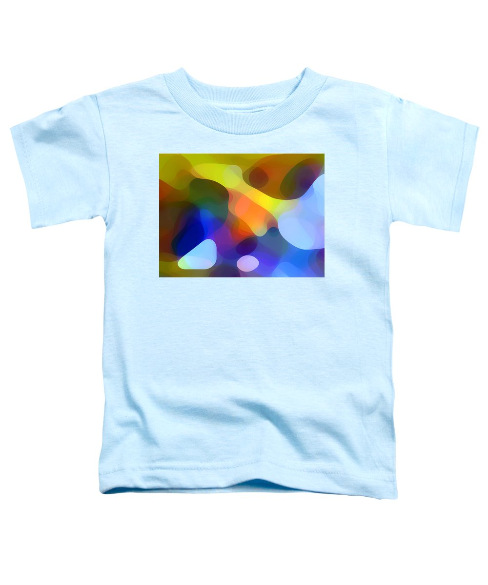 Bold Toddler T-Shirt featuring the painting Cool Dappled Light by Amy Vangsgard