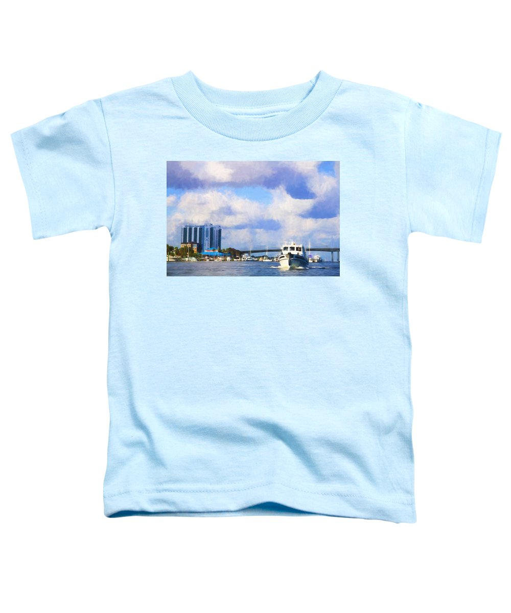 Cruiser Toddler T-Shirt featuring the photograph Cruising Past The Mg by Alice Gipson
