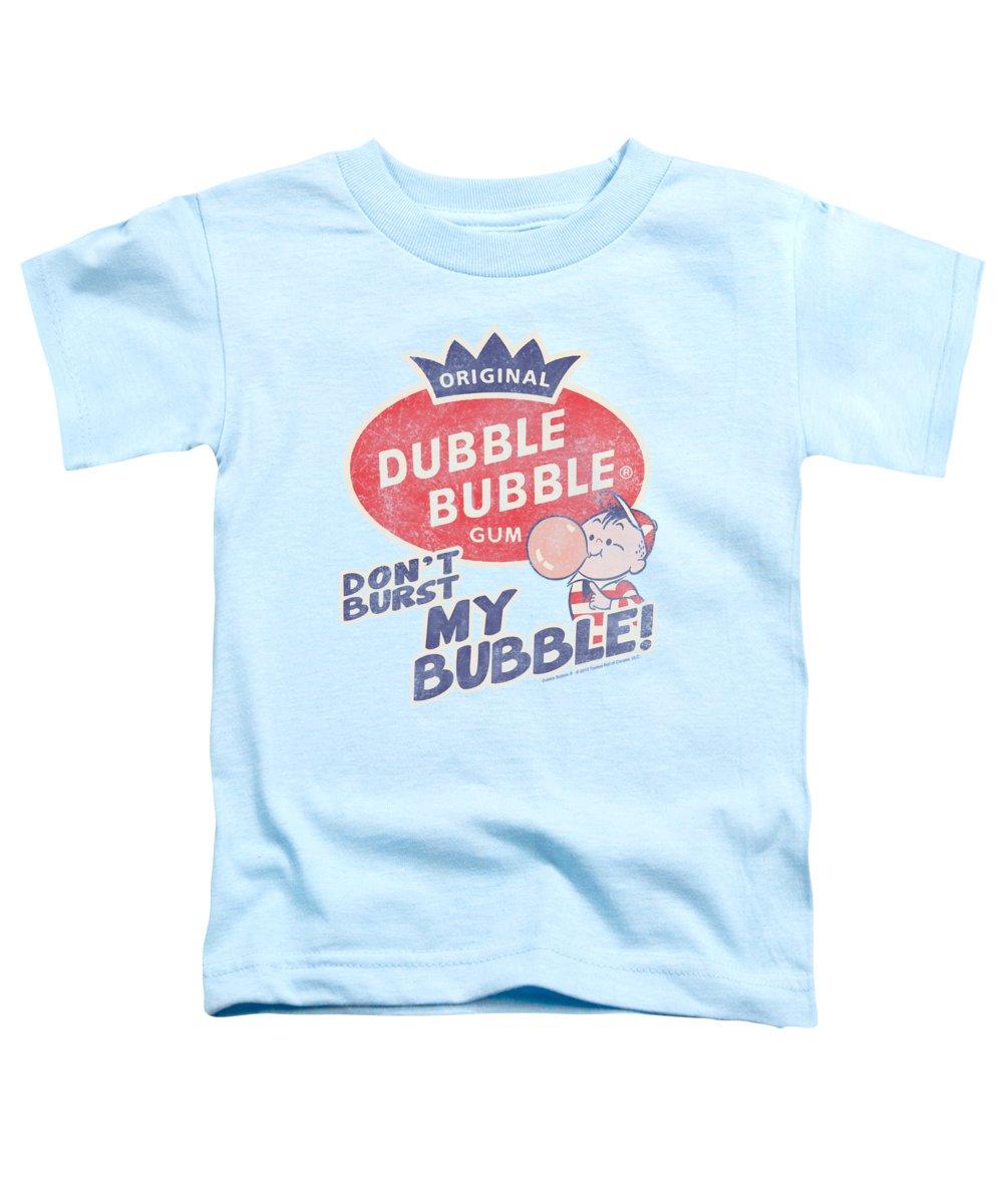 Dubble Bubble Toddler T-Shirt featuring the digital art Dubble Bubble - Burst Bubble by Brand A