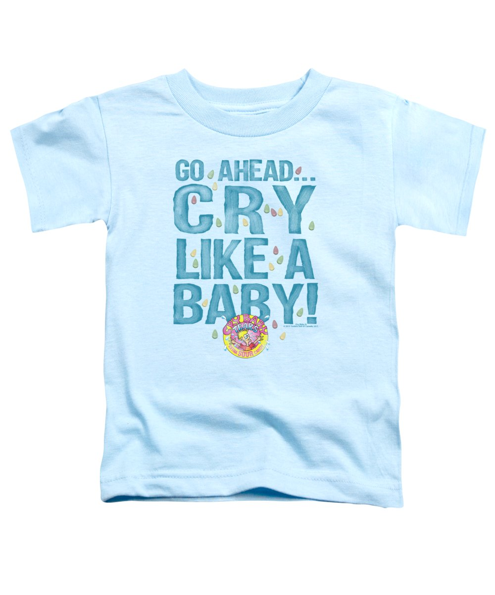 Dubble Bubble Toddler T-Shirt featuring the digital art Dubble Bubble - Cry Like A Baby by Brand A