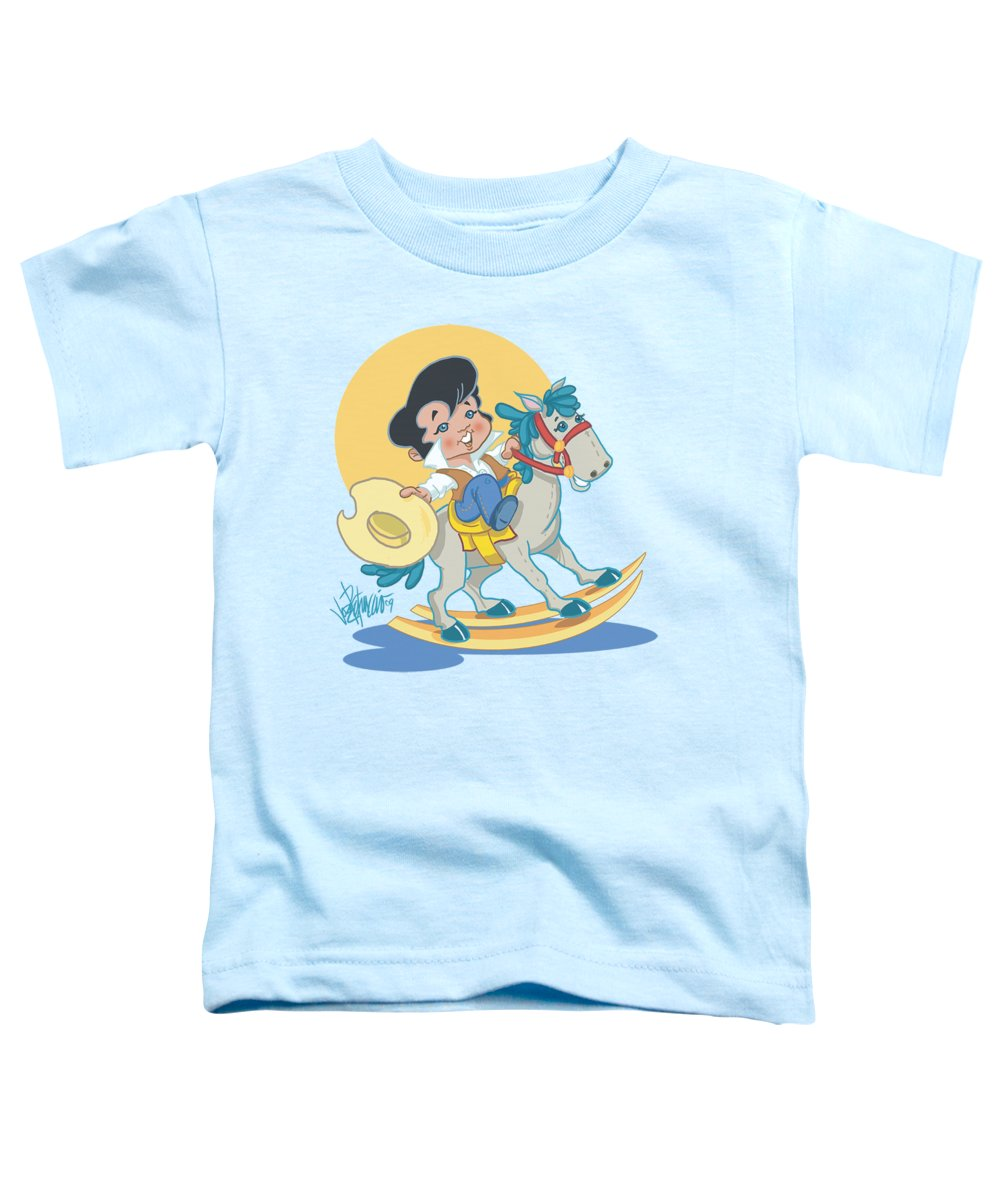 Elvis Toddler T-Shirt featuring the digital art Elvis - Yip E by Brand A