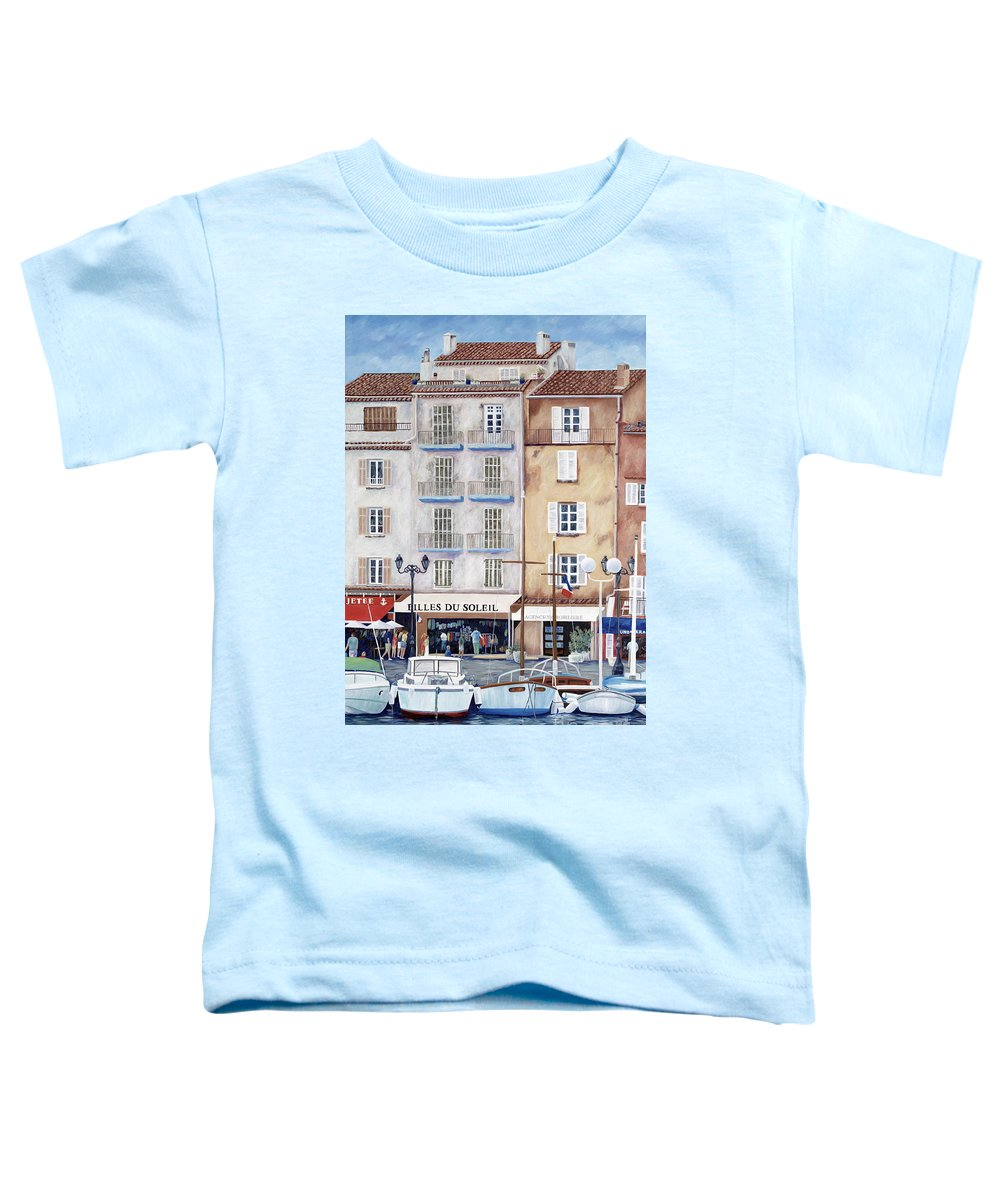 St. Tropez Toddler T-Shirt featuring the painting Filles Du Soleil by Danielle Perry