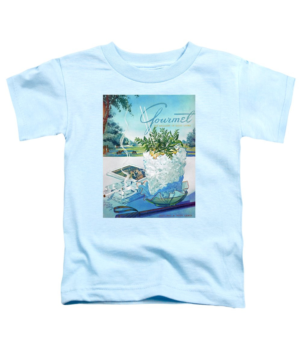 Food Toddler T-Shirt featuring the photograph Gourmet Cover Illustration Of Mint Julep Packed by Henry Stahlhut