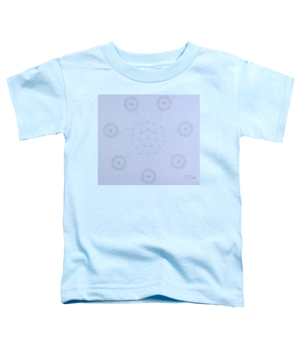 Jason Padgett Toddler T-Shirt featuring the drawing Impossible Parallels by Jason Padgett
