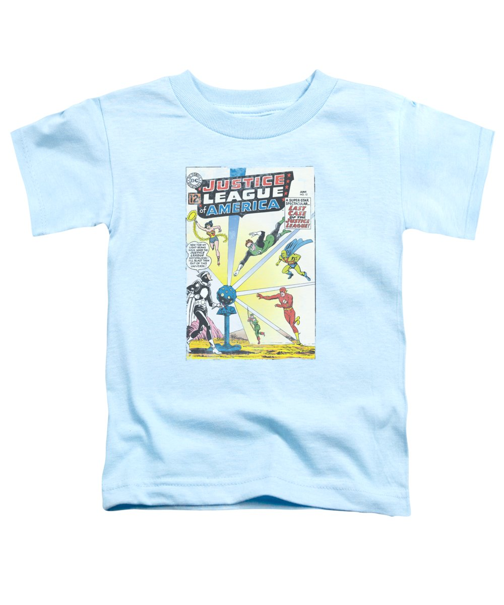Justice League Of America Toddler T-Shirt featuring the digital art Jla - Vintage Cover 12 by Brand A