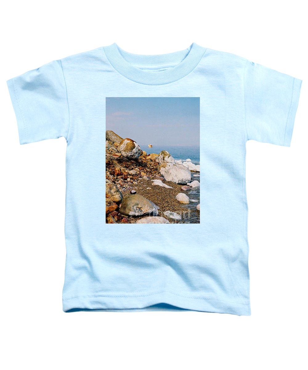 Dead Sea Toddler T-Shirt featuring the photograph Lot's Wife by Kathy McClure