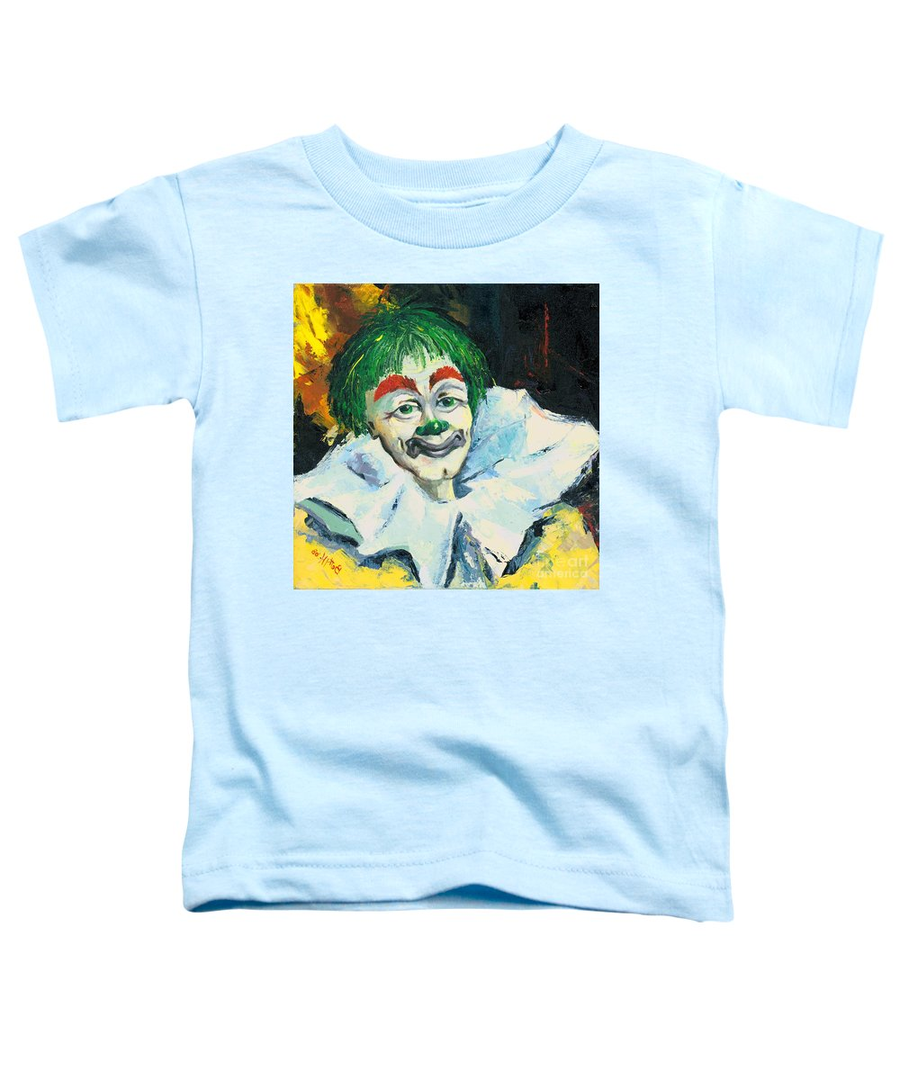 Canvas Prints Toddler T-Shirt featuring the painting My Friend by Elisabeta Hermann