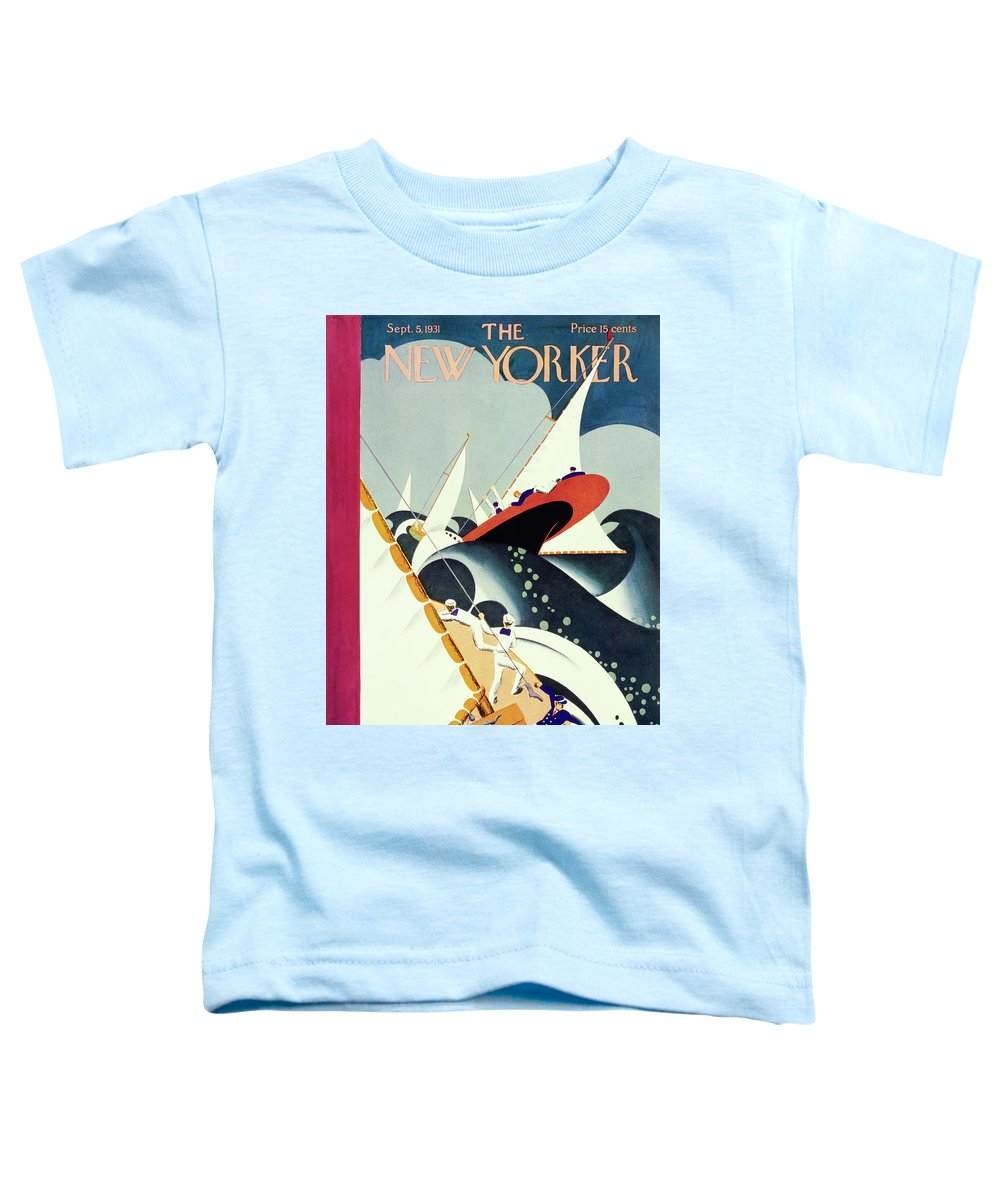 Illustration Toddler T-Shirt featuring the painting New Yorker September 5 1931 by Theodore G Haupt