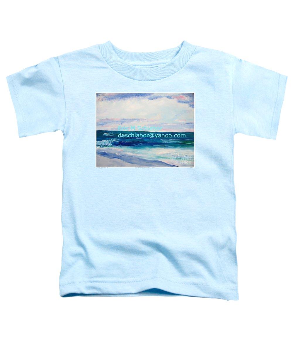 Floral Toddler T-Shirt featuring the painting Ocean Assateague Virginia by Eric Schiabor
