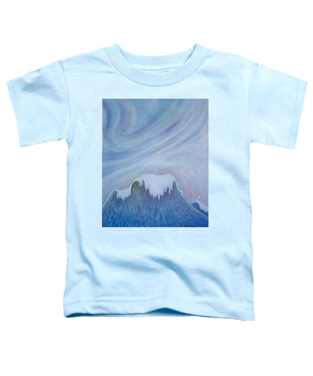 Ocean Toddler T-Shirt featuring the painting Ocean Wave by Micah Guenther
