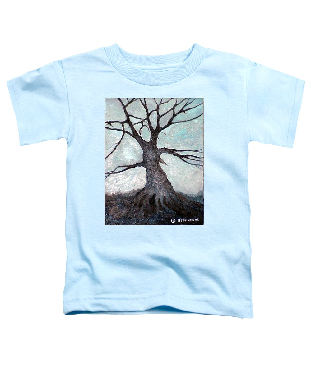 Landscape Toddler T-Shirt featuring the painting Old Tree by Sergey Bezhinets