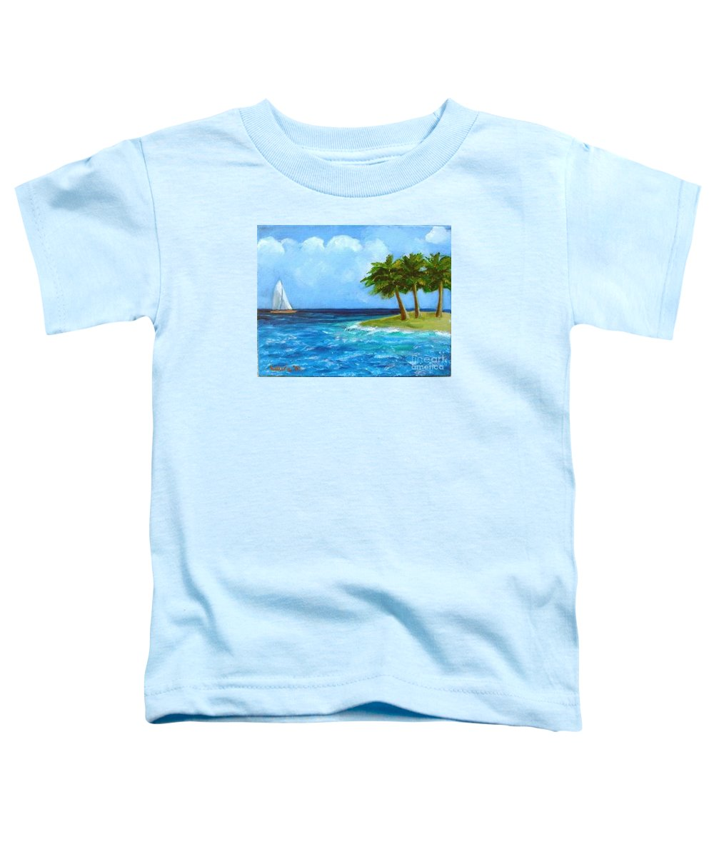 Boats Toddler T-Shirt featuring the painting Perfect Sailing Day by Laurie Morgan