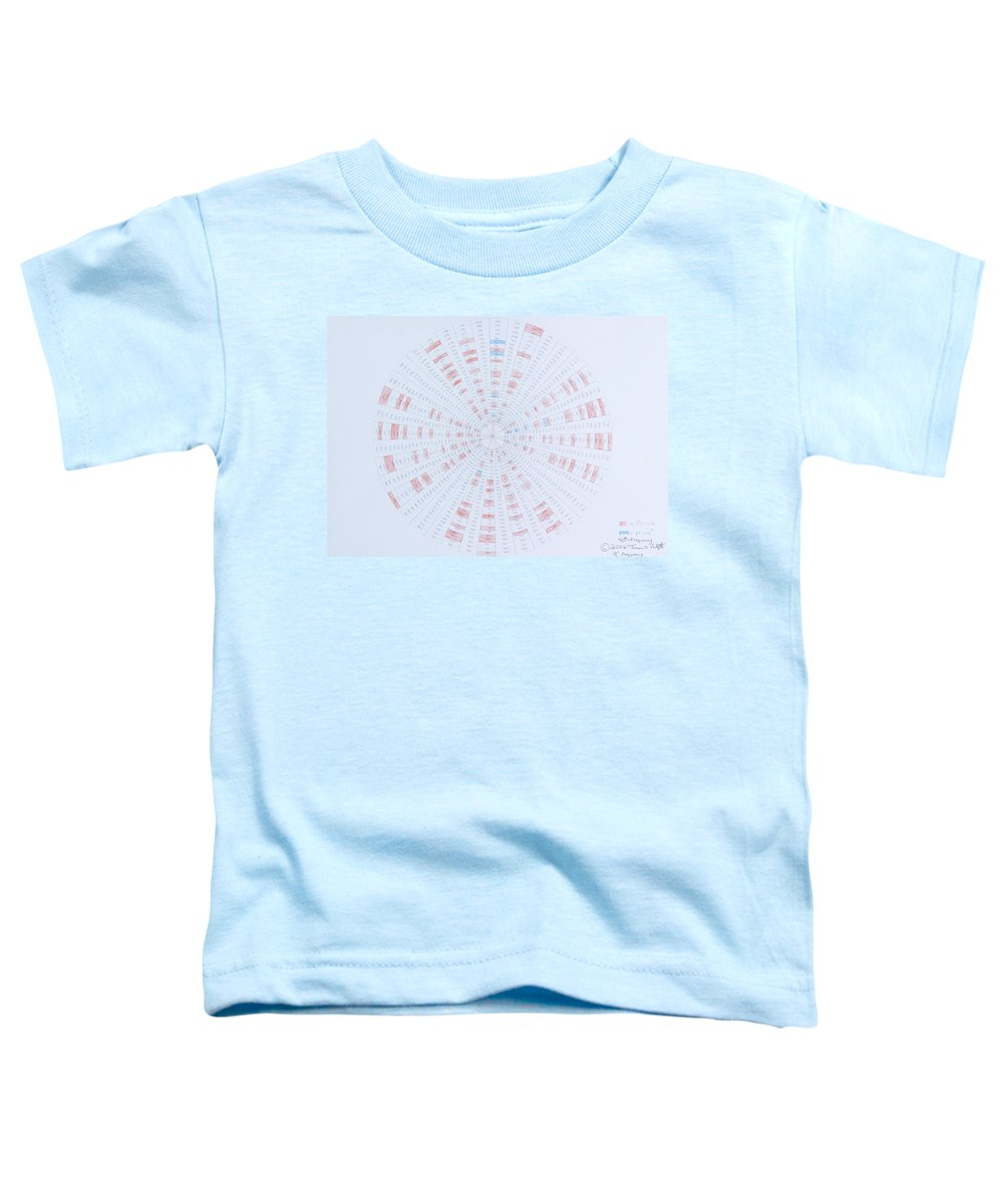 Prime Number Toddler T-Shirt featuring the drawing Prime Number Pattern P Mod 40 by Jason Padgett