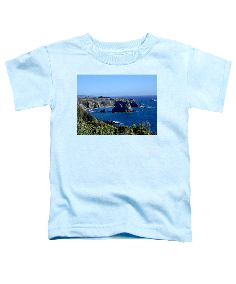 Sea Toddler T-Shirt featuring the photograph Sea Coast Of Northern California by Douglas Barnett