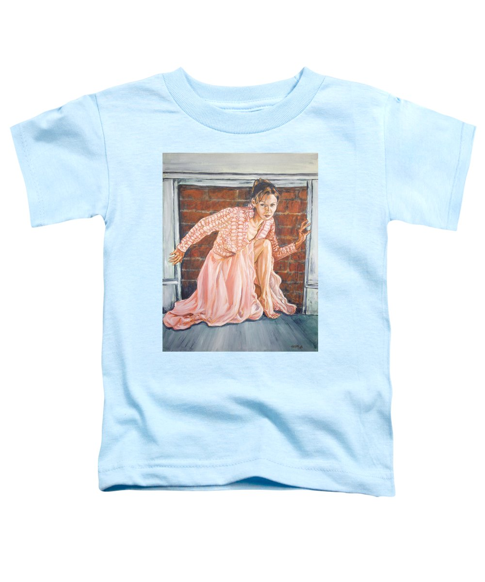 Blonde Toddler T-Shirt featuring the painting Secret Passage by Bryan Bustard