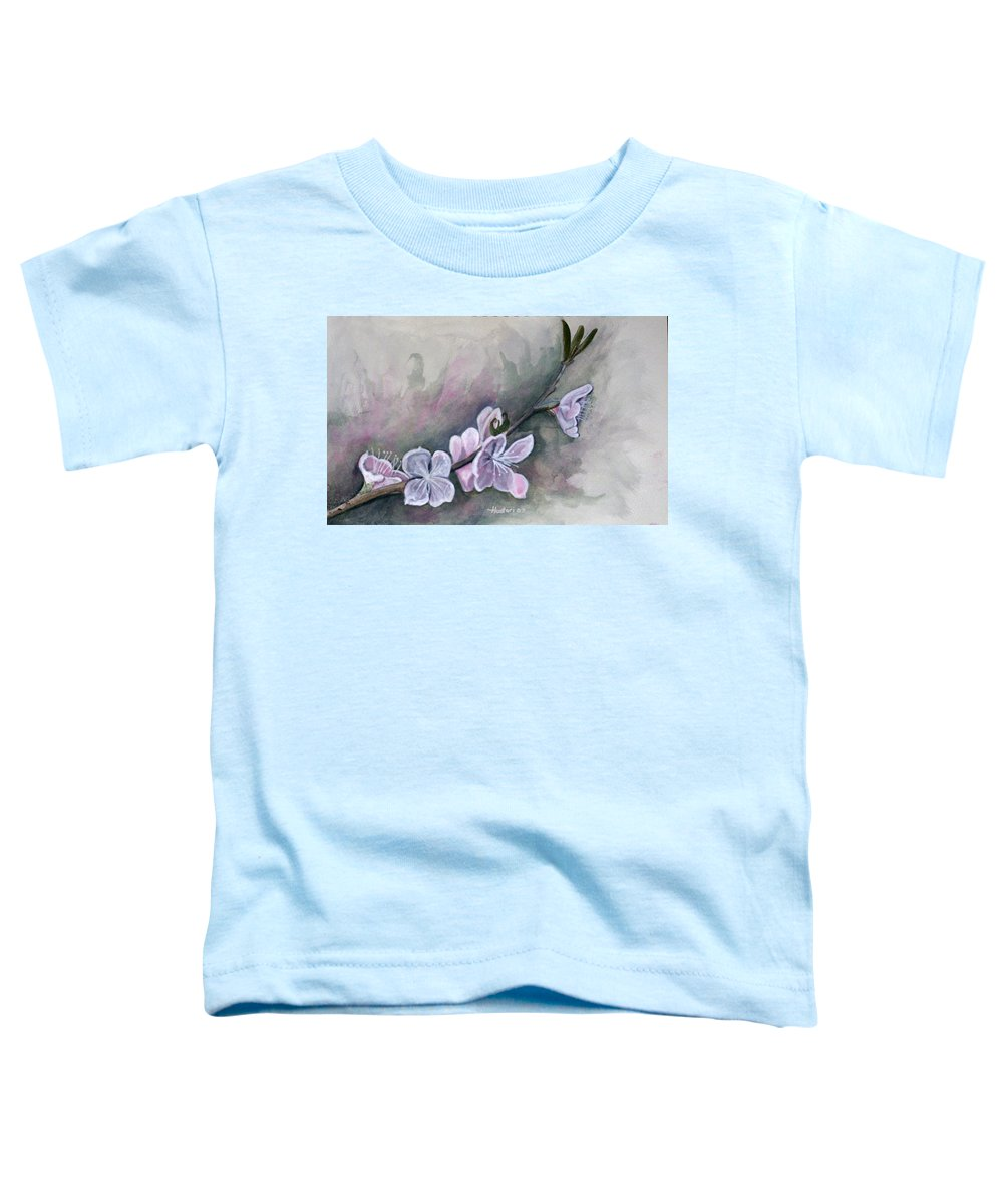 Rick Huotari Toddler T-Shirt featuring the painting Spring Splendor by Rick Huotari