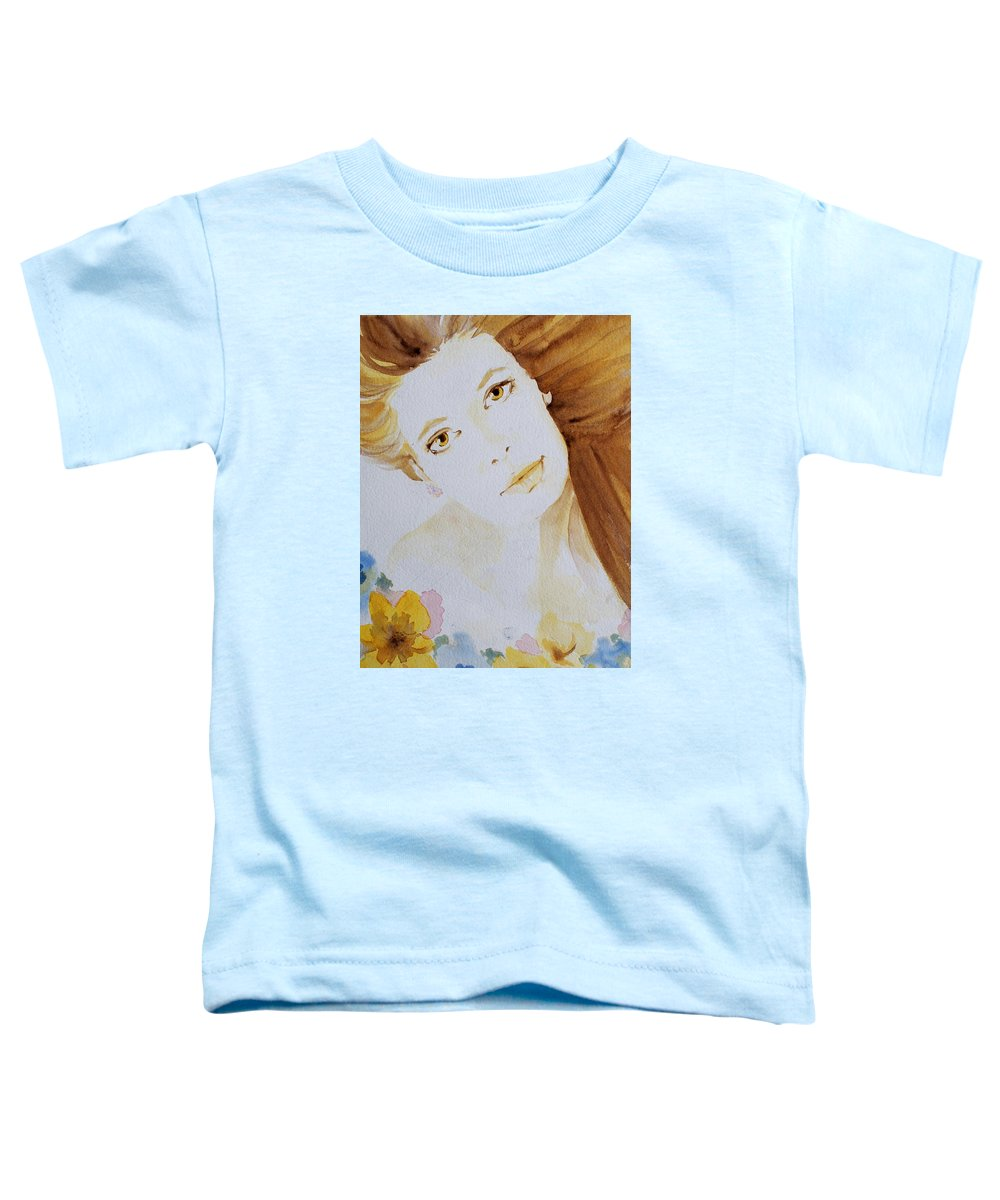 Watercolour Toddler T-Shirt featuring the painting Still Waters' Reflection by Janice Gell
