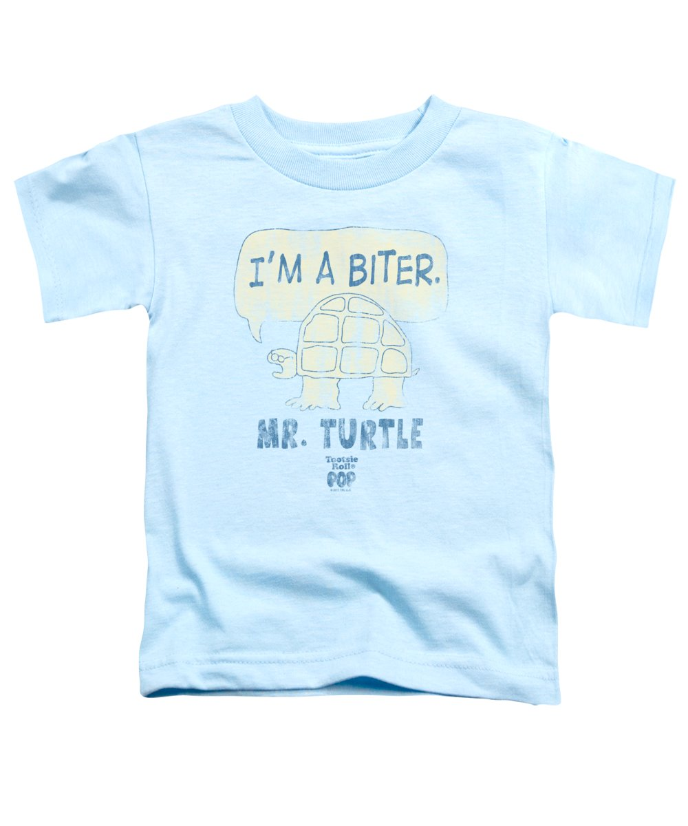 Tootsie Roll Toddler T-Shirt featuring the digital art Tootsie Roll - I'm A Biter by Brand A