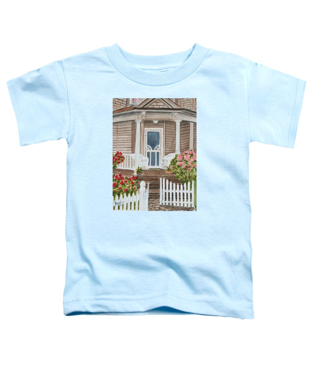Architecture Toddler T-Shirt featuring the painting Welcome by Regan J Smith
