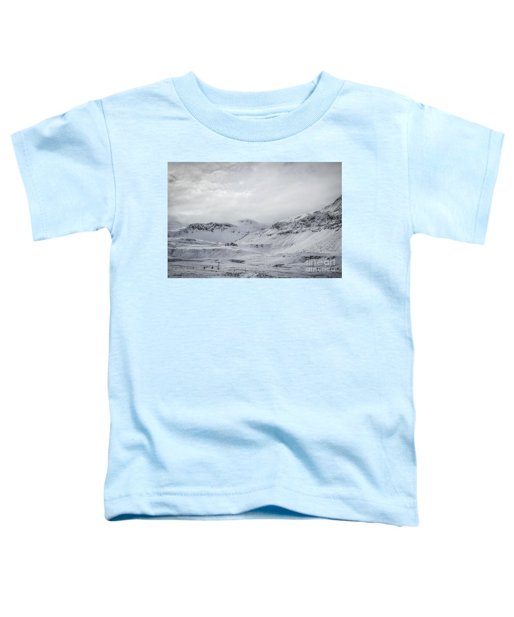 Snaefellsnes Toddler T-Shirt featuring the photograph Whitescape by Evelina Kremsdorf