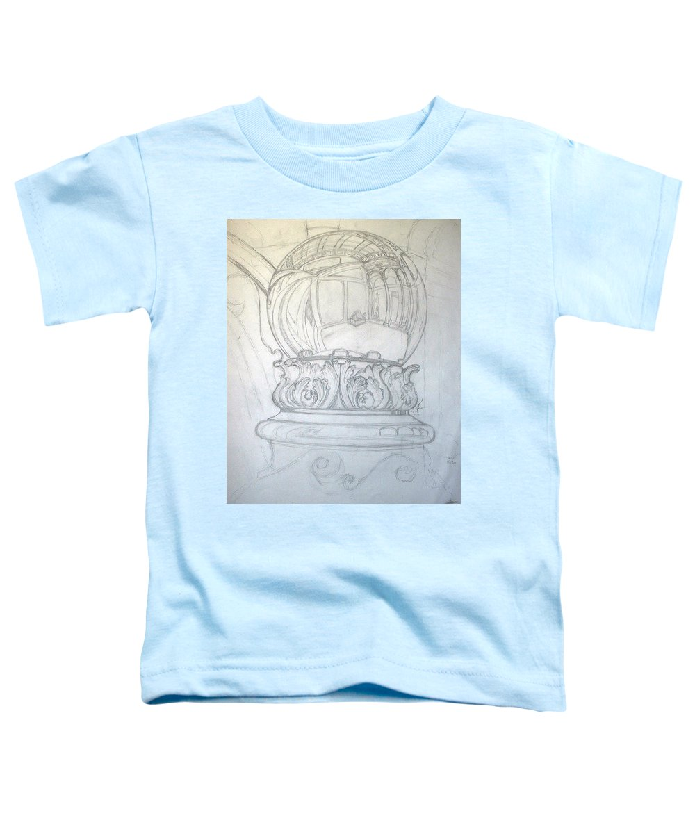 Ball Toddler T-Shirt featuring the drawing Chrome Ball at M.I.C.A. by Robert Fenwick May Jr