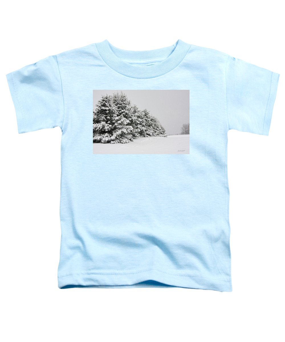 Winter Toddler T-Shirt featuring the photograph The Simple Beauty of Winter by Linda Lee Hall