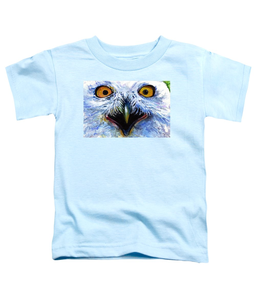 Eye Toddler T-Shirt featuring the painting Eyes Of Owls No. 15 by John D Benson