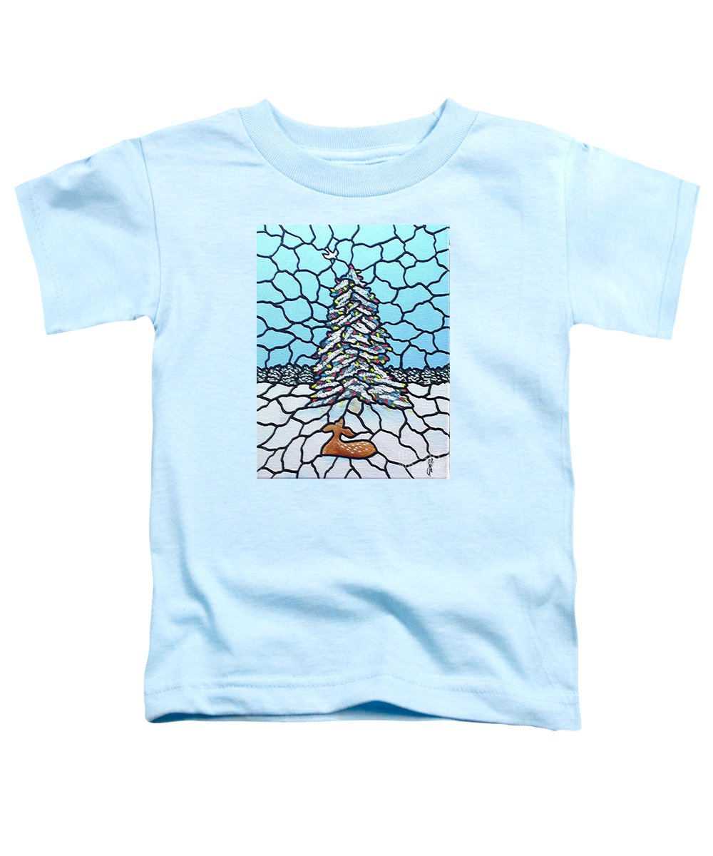 Peace Toddler T-Shirt featuring the painting Let There Be Peace by Jim Harris