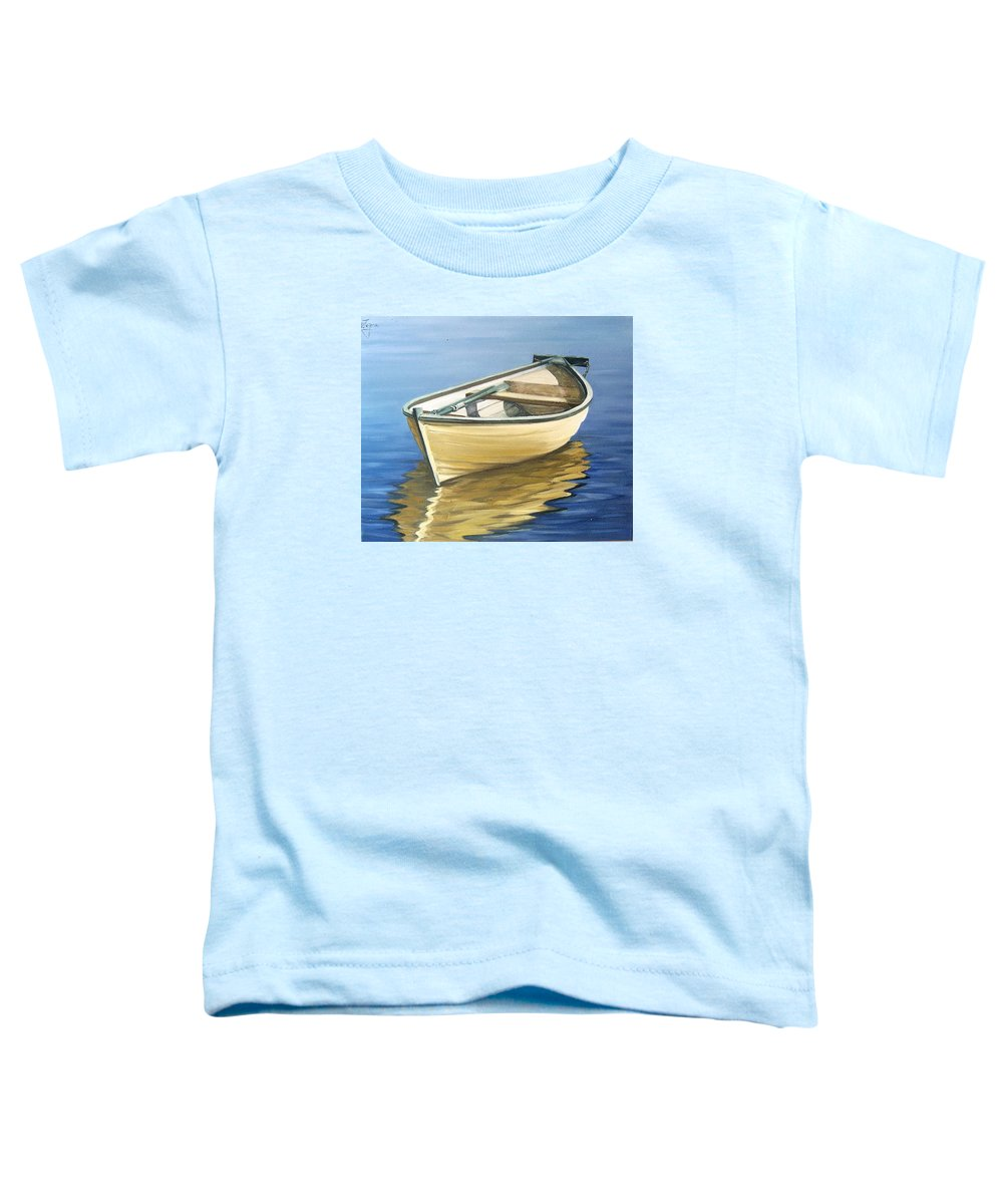 Still Life Toddler T-Shirt featuring the painting Calm by Natalia Tejera