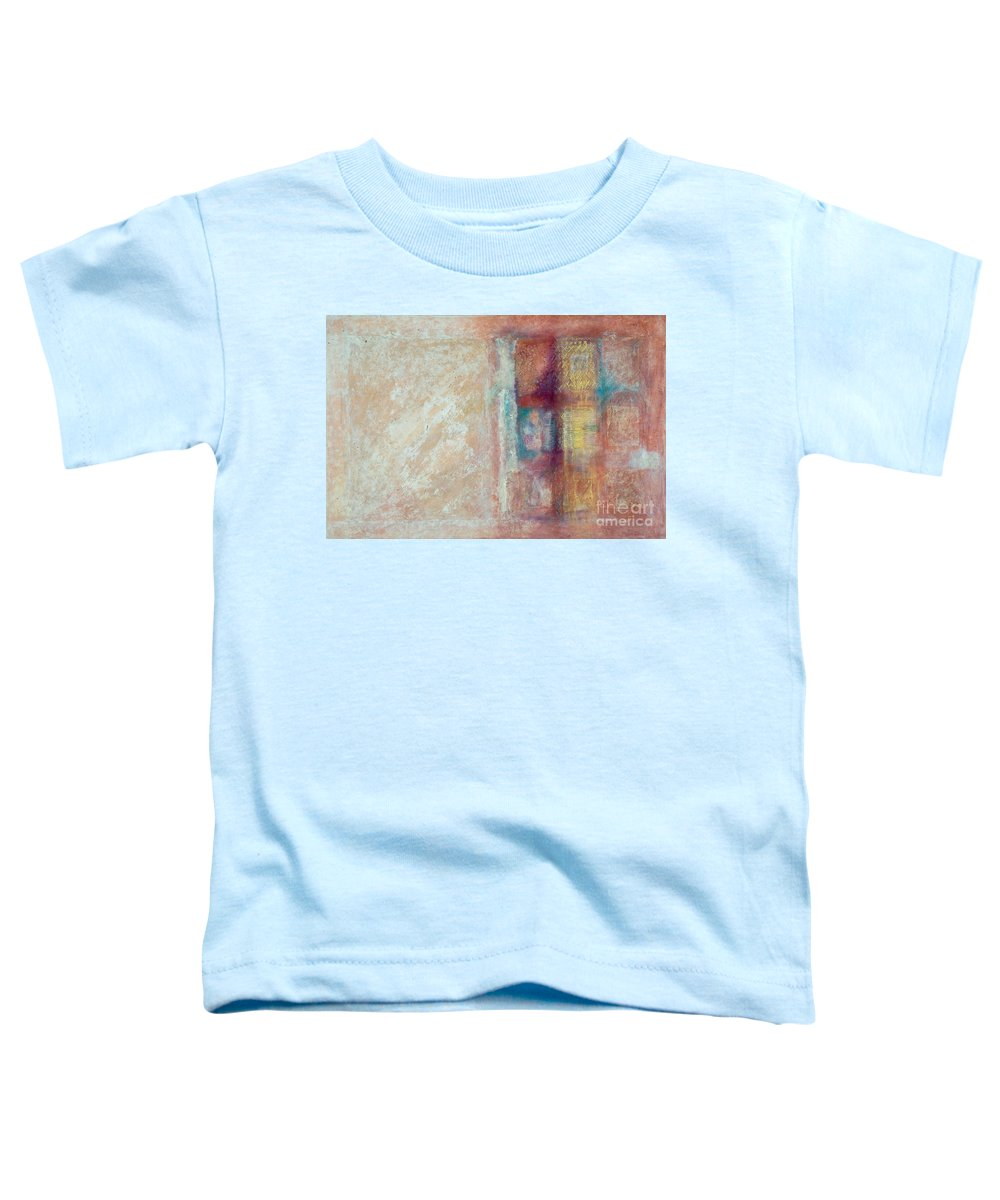 Mixed-media Toddler T-Shirt featuring the painting Spirit Matter Cosmos by Kerryn Madsen-Pietsch