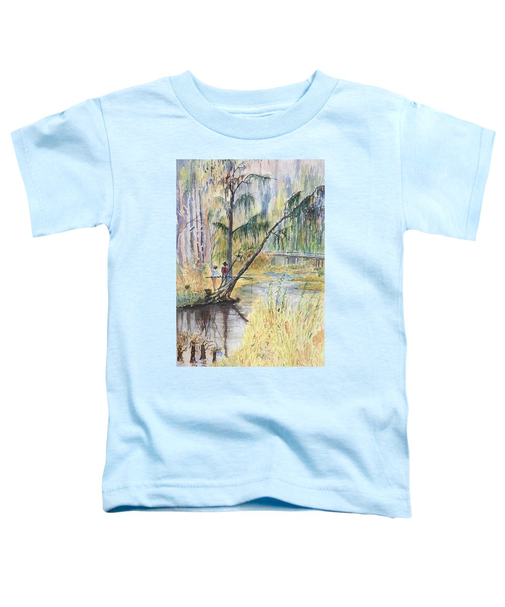 Low Country Toddler T-Shirt featuring the painting Summertime by Ben Kiger