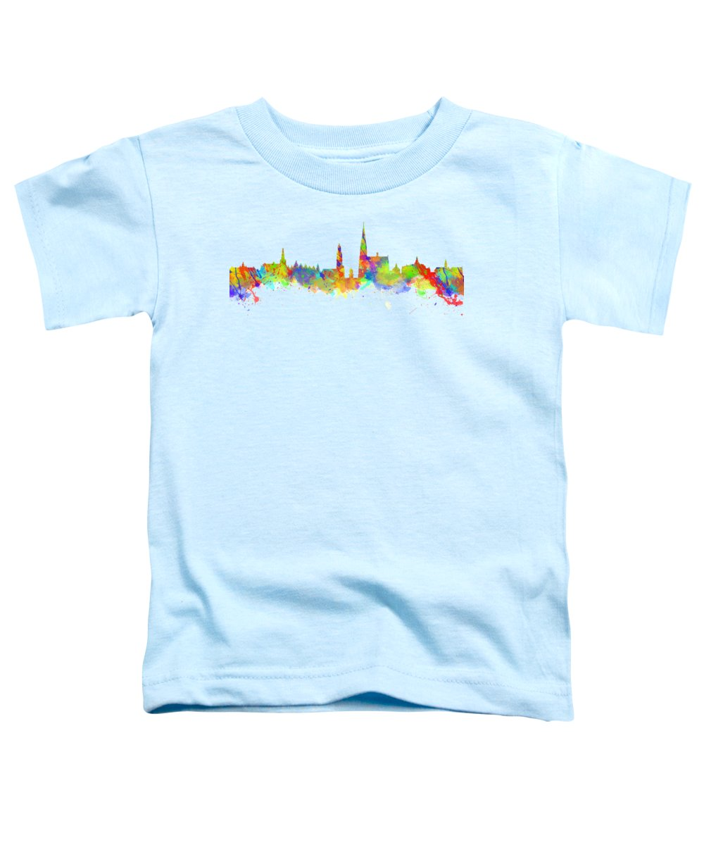 Antwerp Toddler T-Shirt featuring the photograph Watercolor Art Print Of The Skyline Of Antwerp In Belgium by Chris Smith