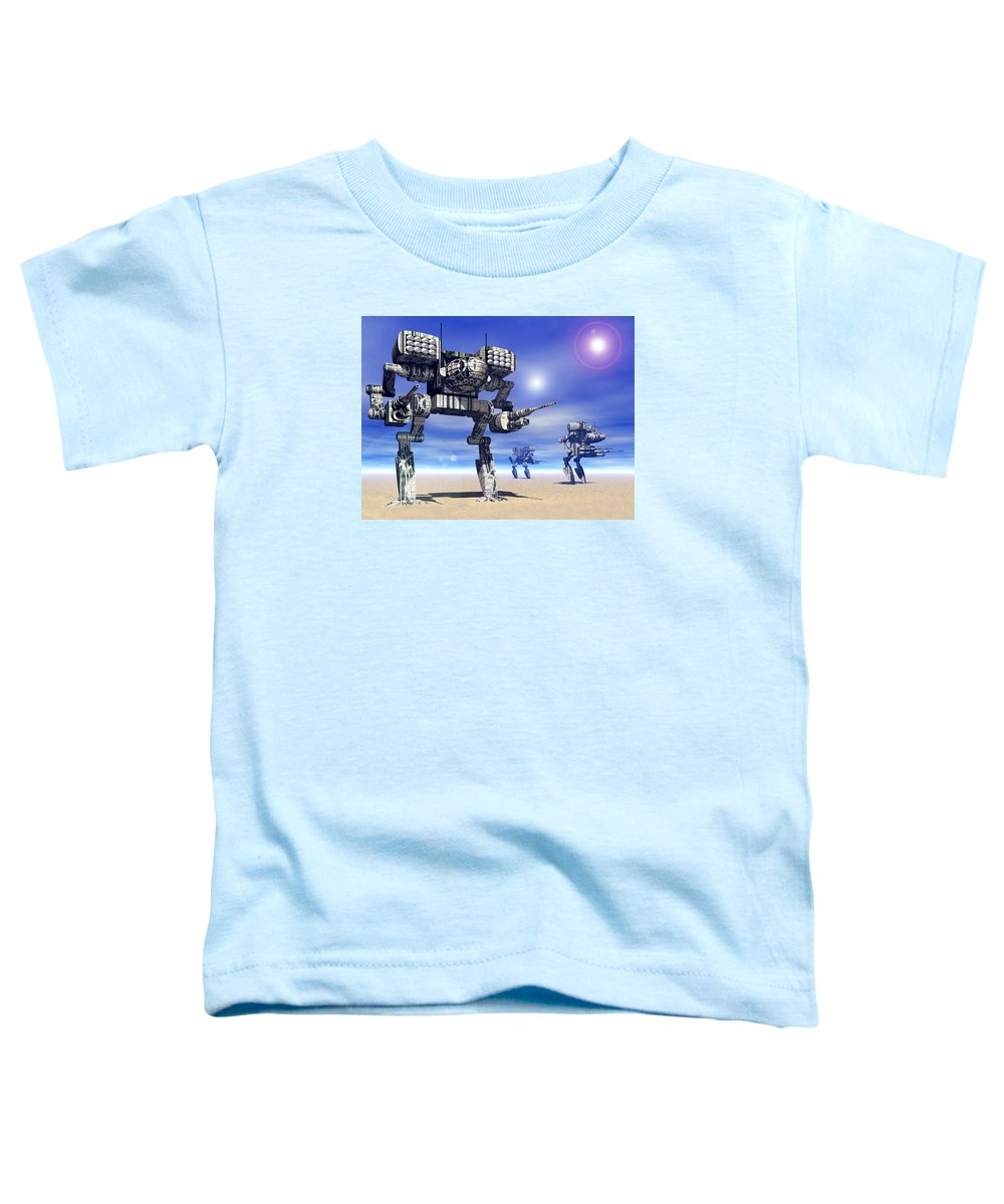 Science Fiction Toddler T-Shirt featuring the digital art 501st Mech Trinary by Curtiss Shaffer