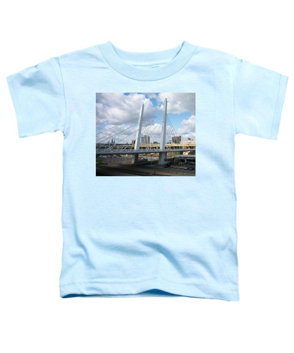 Bridge Toddler T-Shirt featuring the photograph 6th Street Bridge by Anita Burgermeister