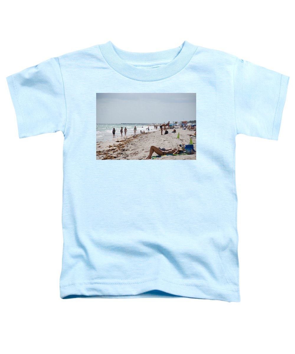 Nude Toddler T-Shirt featuring the photograph A Day At Paradise Beach by Rob Hans