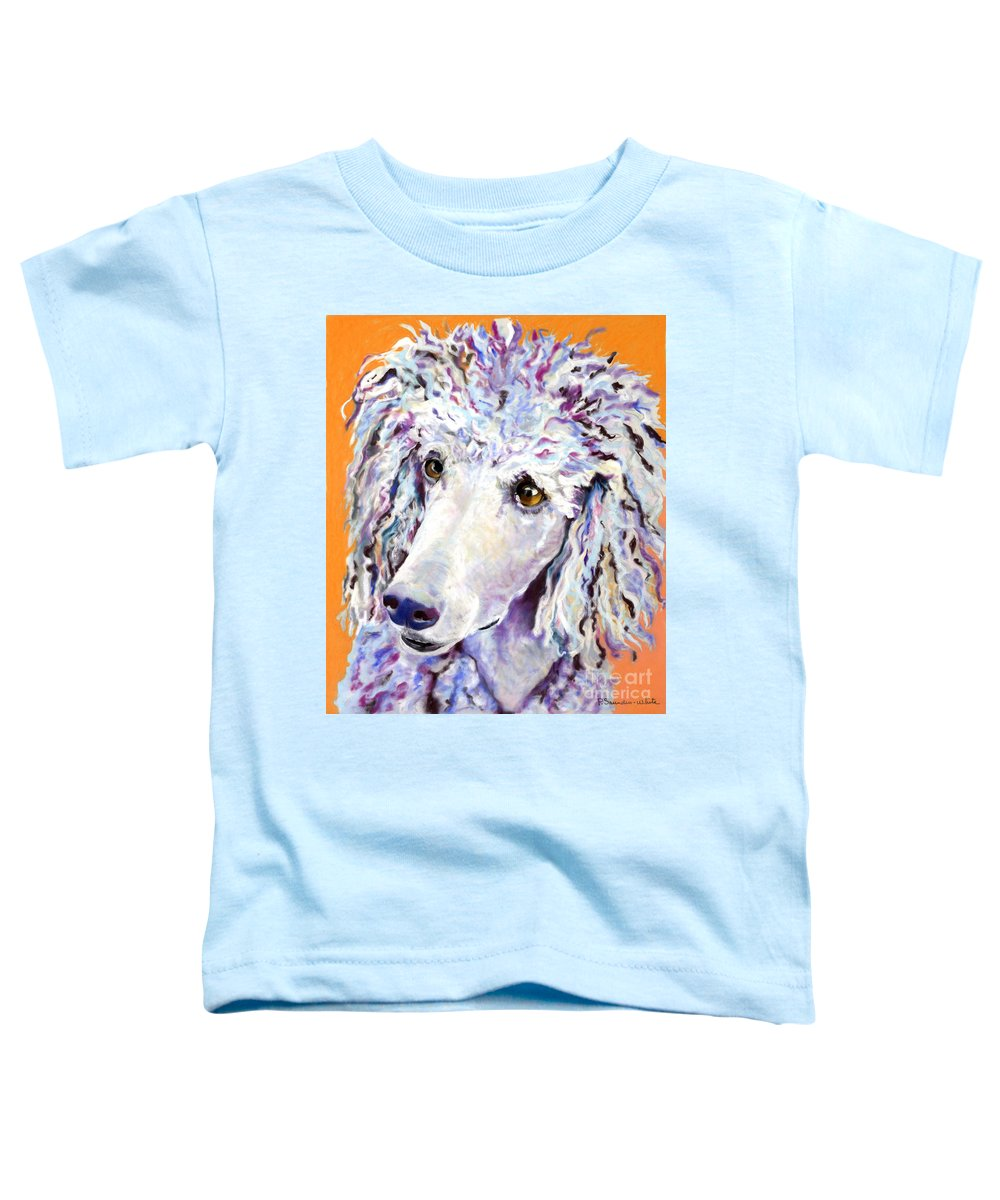 Standard Poodle Toddler T-Shirt featuring the pastel Above The Standard  by Pat Saunders-White