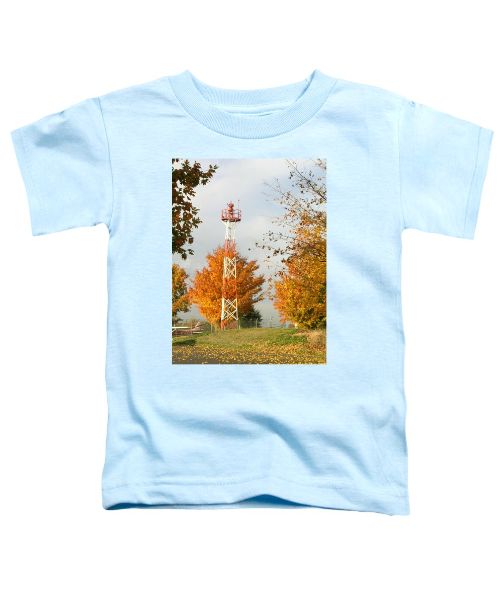 Airport Toddler T-Shirt featuring the photograph Airport Tower by Douglas Barnett