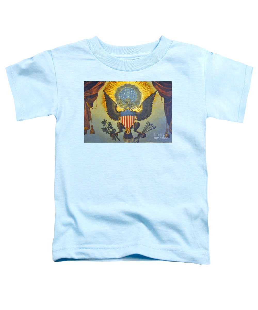 United Toddler T-Shirt featuring the photograph American Eagle by Jost Houk