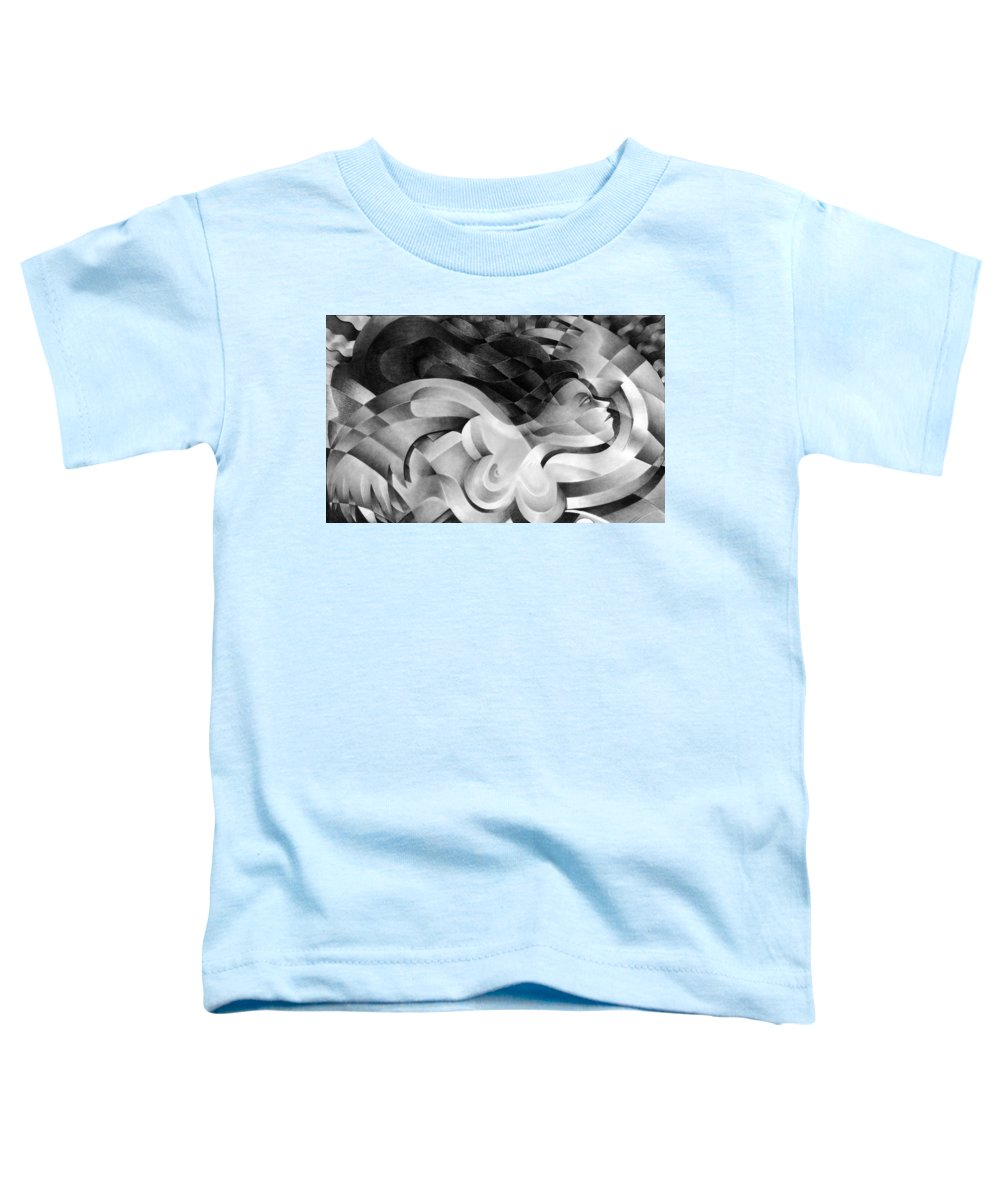 Art Toddler T-Shirt featuring the drawing Amore by Myron Belfast