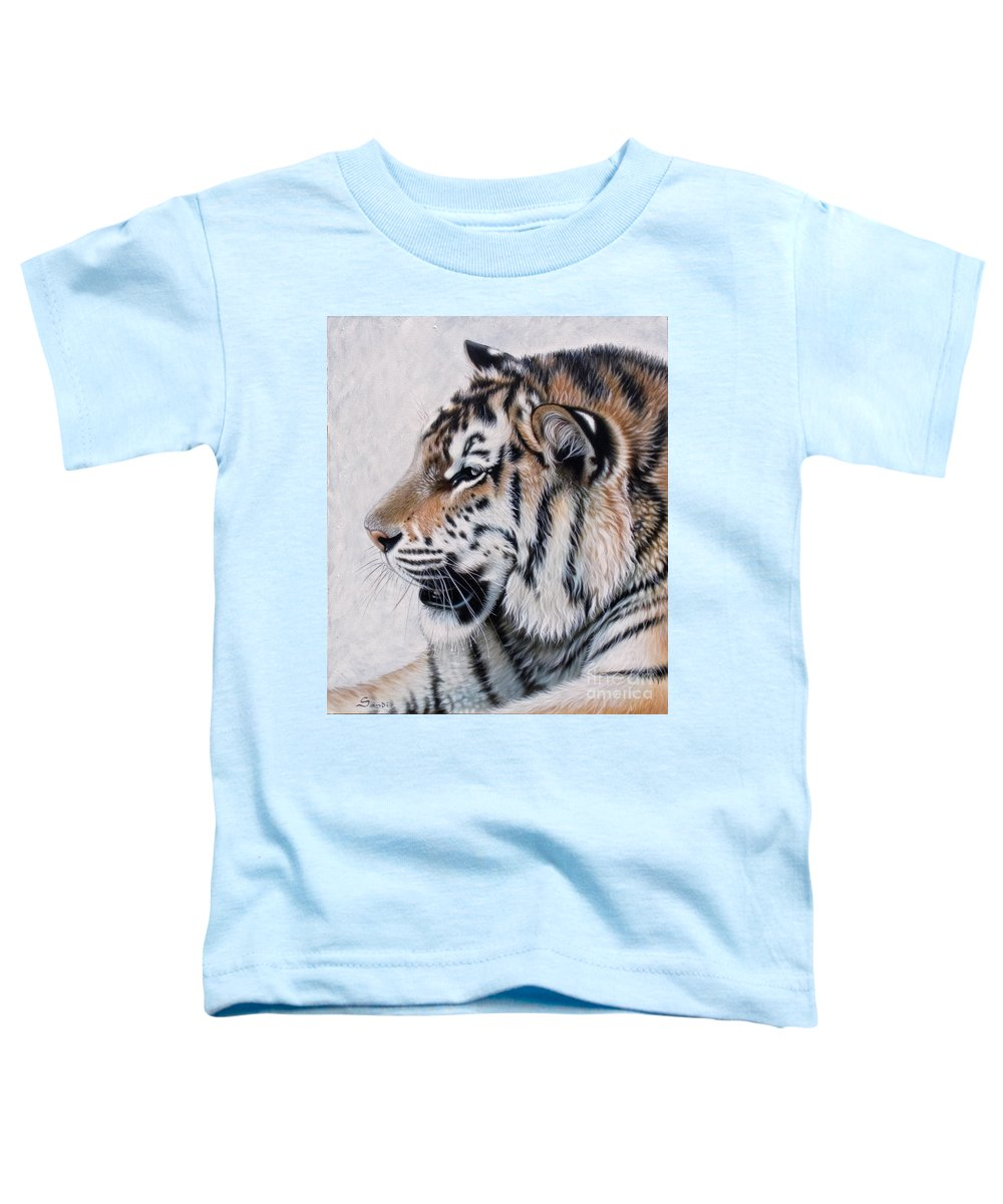 Acrylic Toddler T-Shirt featuring the painting Amur by Sandi Baker