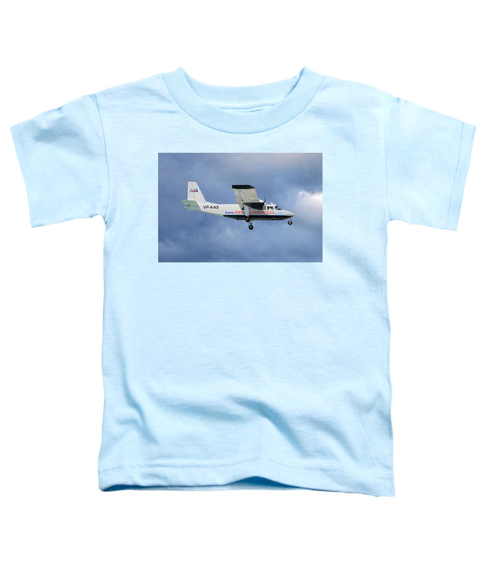 Anguilla Toddler T-Shirt featuring the photograph Anguilla Air Services Britten-norman Bn-2a-26 Islander 117 by Smart Aviation