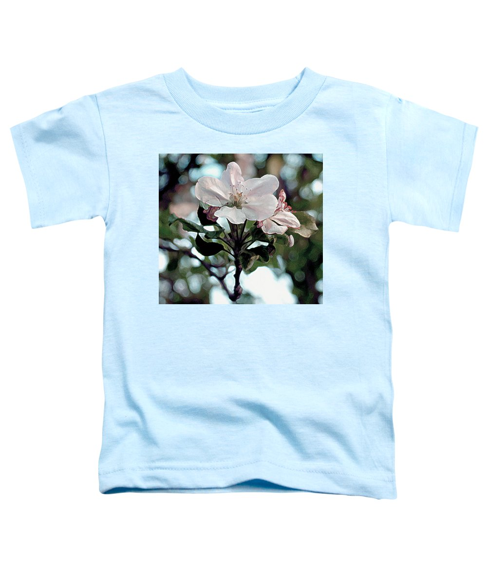 Flowers Toddler T-Shirt featuring the painting Apple Blossom Time by RC DeWinter
