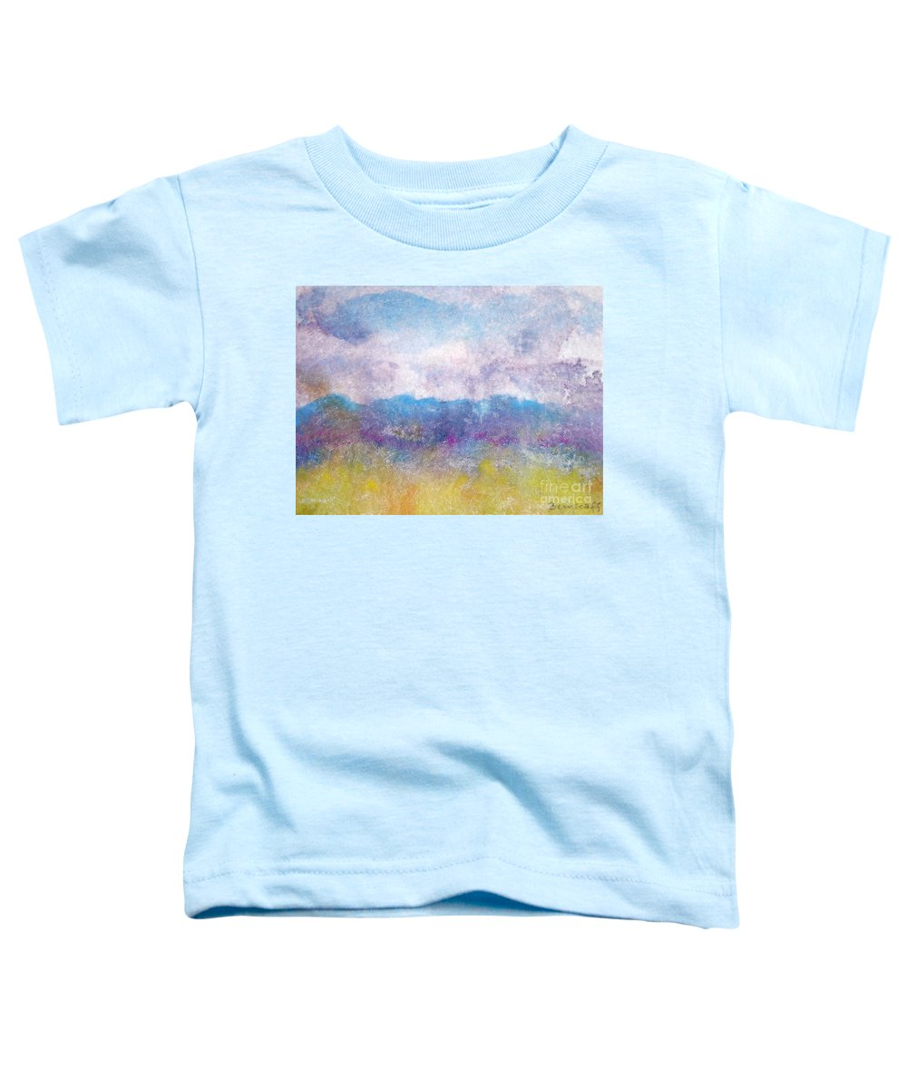 Abstract Toddler T-Shirt featuring the painting Arizona Impressions by Jan Bennicoff