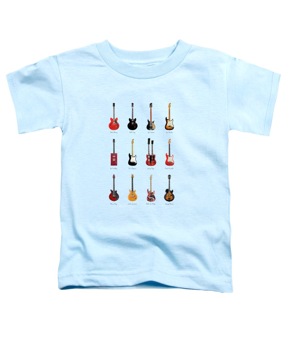 Fender Stratocaster Toddler T-Shirt featuring the photograph Guitar Icons No1 by Mark Rogan