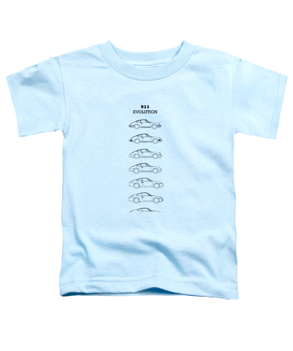 Porsche Toddler T-Shirt featuring the photograph 911 Evolution by Mark Rogan
