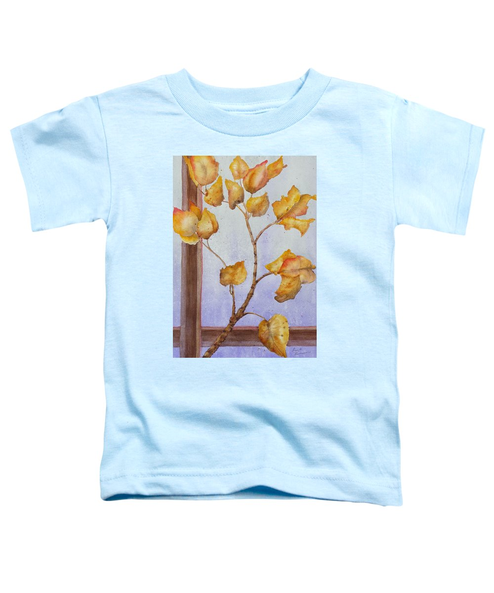 Leaves Toddler T-Shirt featuring the painting Aspen by Ruth Kamenev