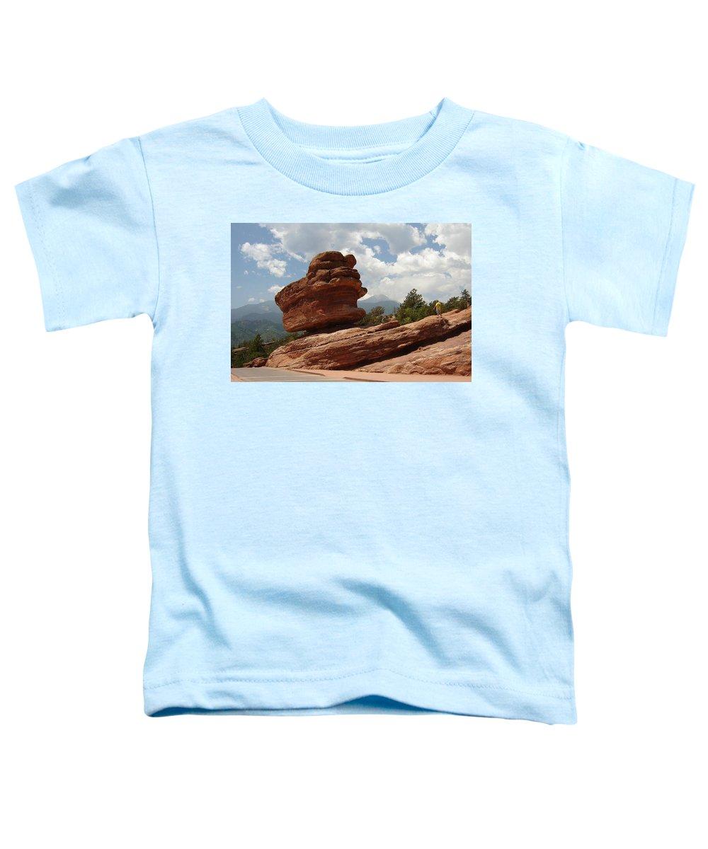 Colorado Toddler T-Shirt featuring the photograph Balance Rock by Anita Burgermeister