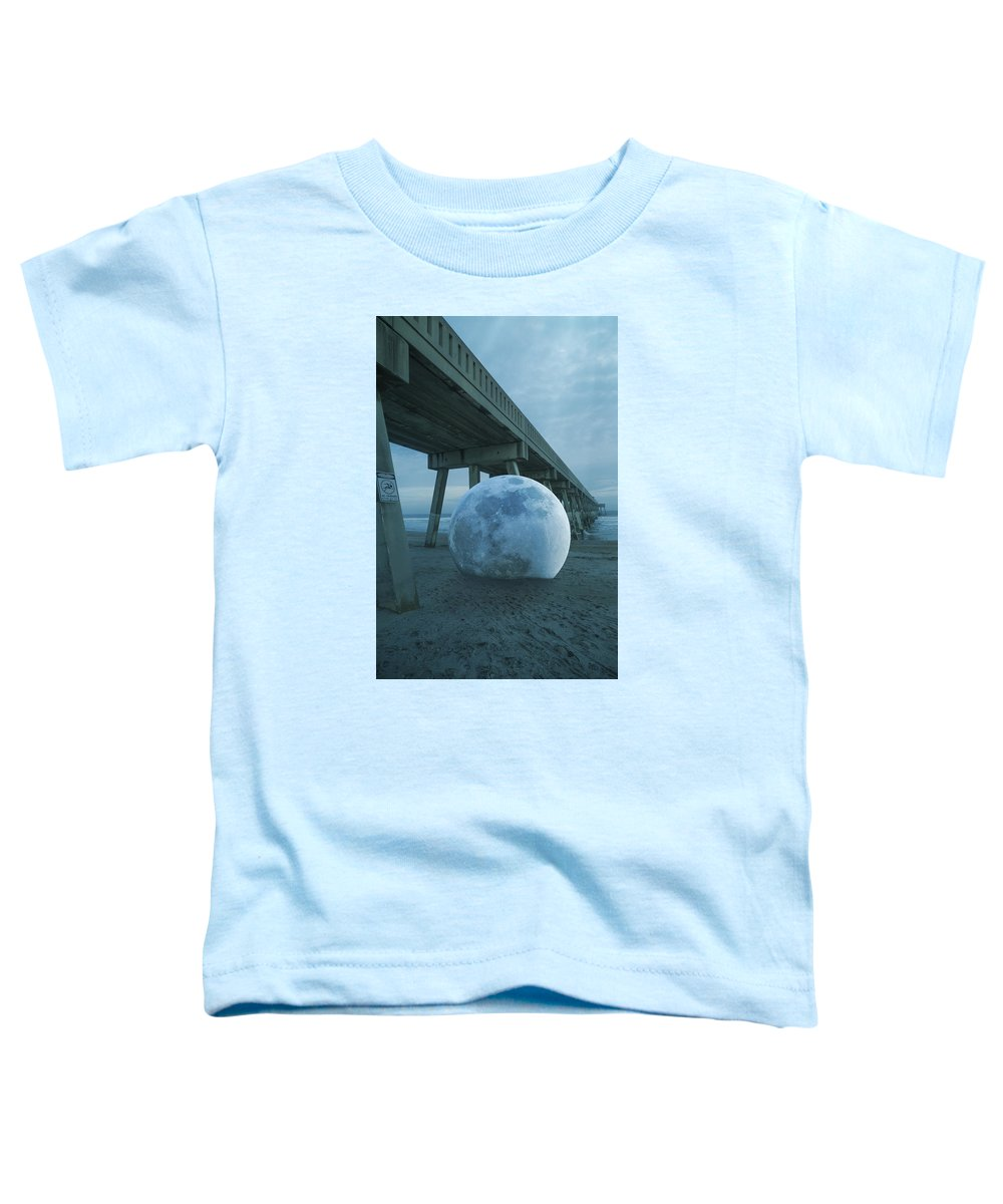 Fantasy Toddler T-Shirt featuring the digital art Beach Ball by Betsy Knapp