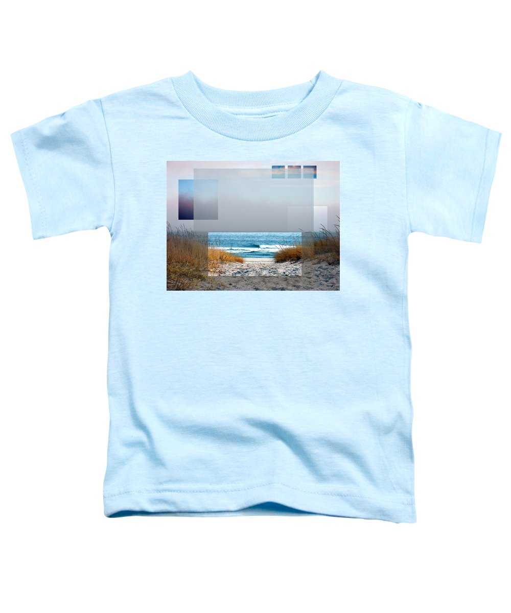 Beach Toddler T-Shirt featuring the photograph Beach Collage by Steve Karol