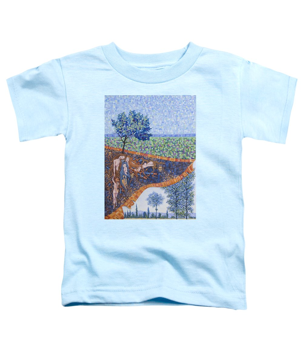 Canvas Toddler T-Shirt featuring the painting Behind The Canvas by Judy Henninger